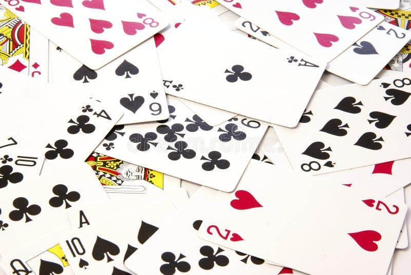 Предпосылка играя карточек Стоковая Фотография