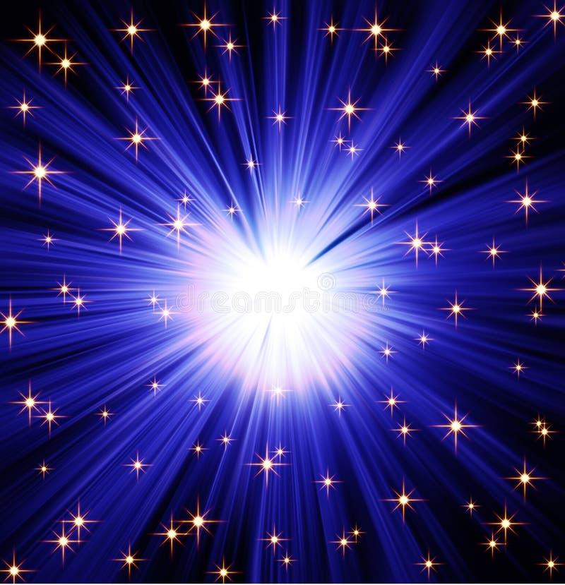 предпосылка излучает звезды иллюстрация штока