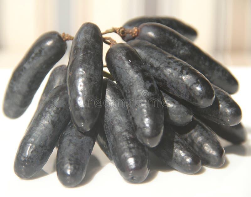 Предпосылка изолированная едой белая очень вкусный Сан-Паулу Бразилия плода пальца дамы виноградины стоковое изображение rf