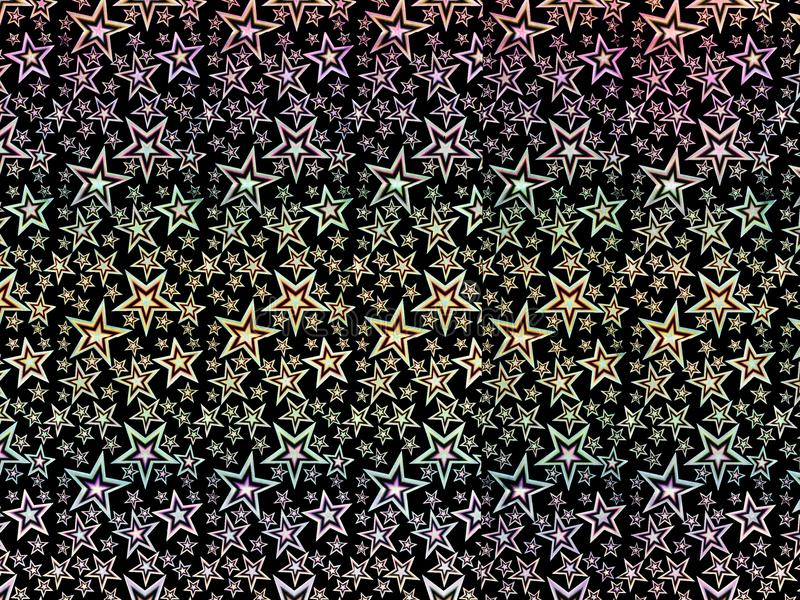 Предпосылка или обои сделанные красочного hologram играют главные роли иллюстрация вектора