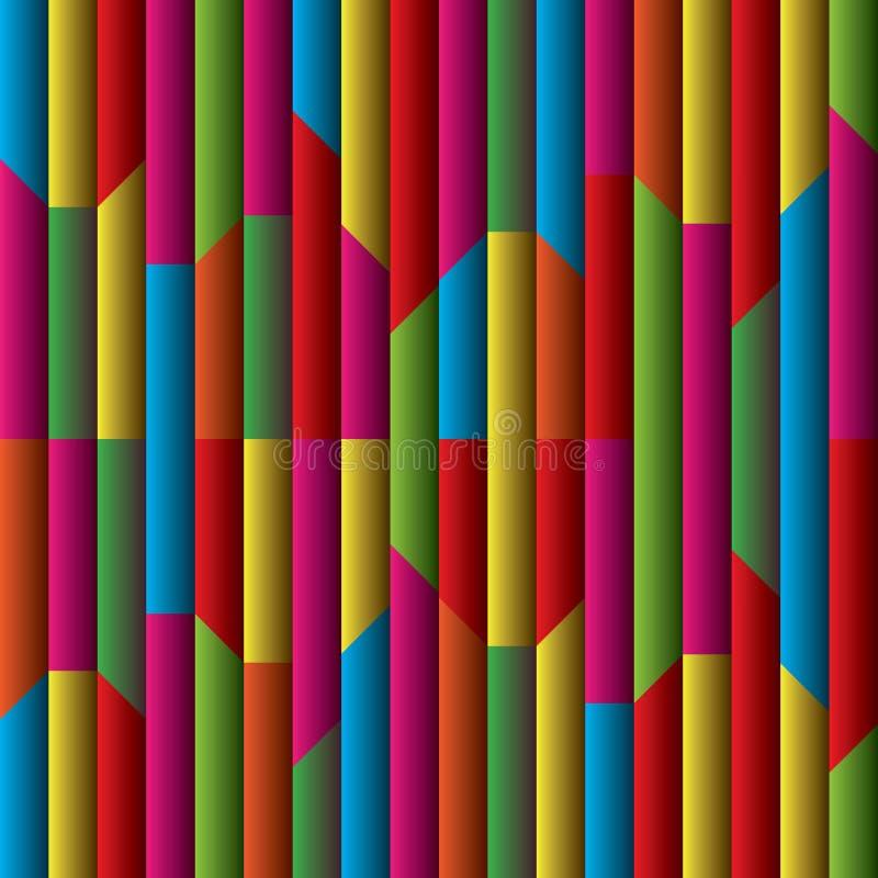 Предпосылка иллюстрации искусства линий и нашивок цветов радуги иллюстрация вектора