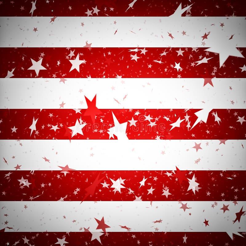 Предпосылка имитируя американский флаг иллюстрация вектора
