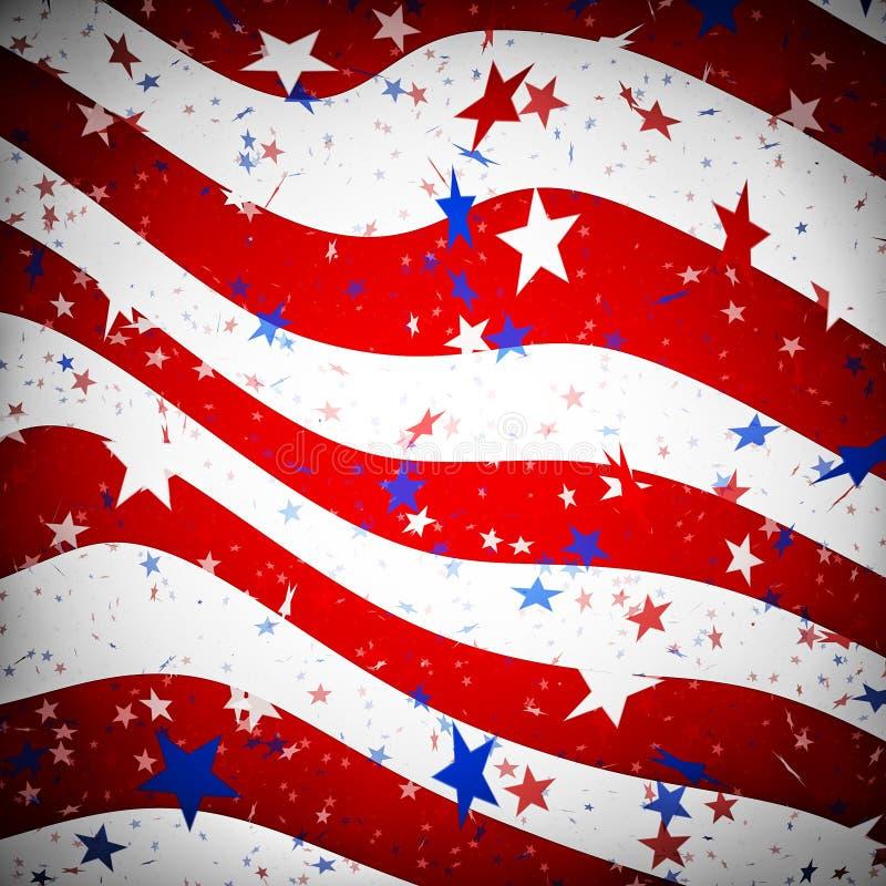 Предпосылка имитируя американский флаг иллюстрация штока