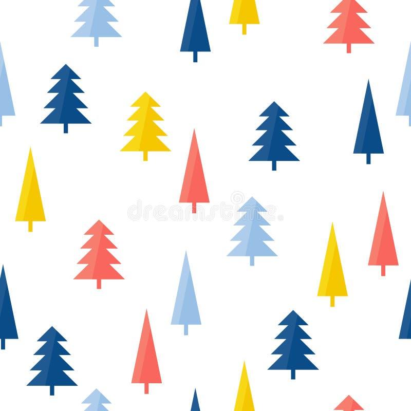 Предпосылка картины абстрактного handmade леса безшовная Крышка руки вычерченная для карты подарка дизайна, обоев дня рождения, а иллюстрация вектора
