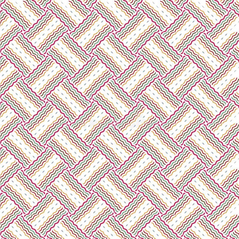 Предпосылка картины абстрактной безшовной решетки шотландки роскошной бежевой живая иллюстрация штока