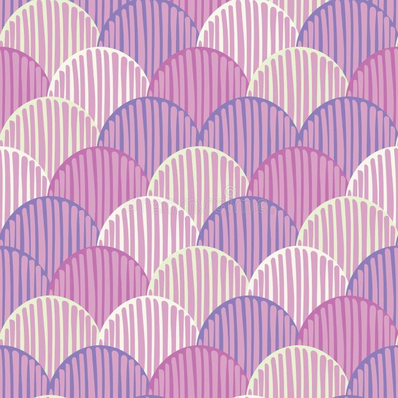 Предпосылка картины вектора абстрактного красочного fishscale doodle безшовная для ткани, обоев, scrapbooking, карт бесплатная иллюстрация