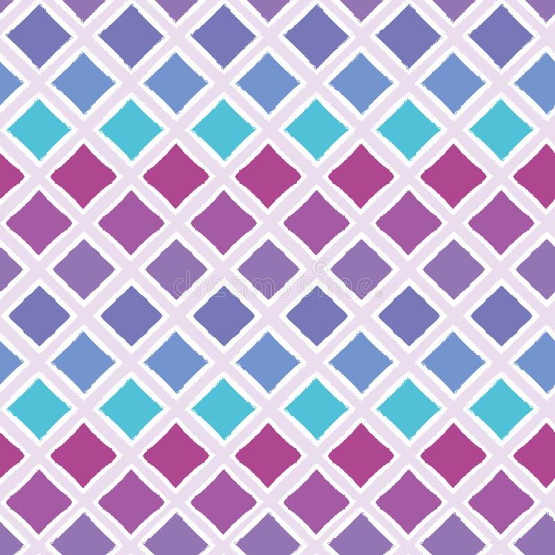 Предпосылка картины вектора абстрактного красочного ombre геометрическая безшовная с щеткой заштриховала формы диаманта для ткани иллюстрация вектора