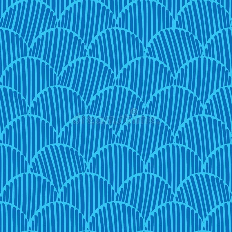 Предпосылка картины вектора абстрактного monochrome fishscale doodle безшовная для ткани, обоев, scrapbooking, карт бесплатная иллюстрация