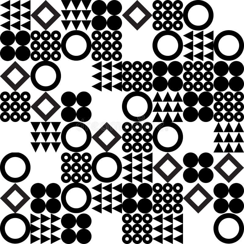 Предпосылка картины вектора геометрическая безшовная иллюстрация штока