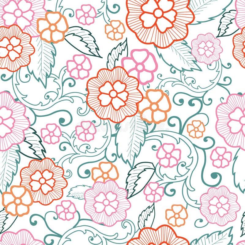 Предпосылка картины вектора пастельная флористическая безшовная бесплатная иллюстрация