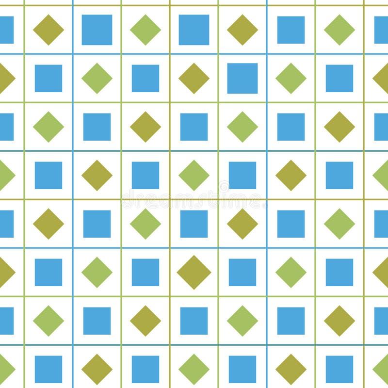 Предпосылка картины вектора проверки конспекта красочная безшовная геометрическая с диамантом и квадратные формы для ткани бесплатная иллюстрация