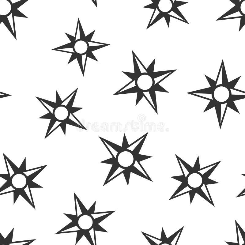 Предпосылка картины глобального значка навигации безшовная Иллюстрация вектора gps компаса на белой изолированной предпосылке Пол иллюстрация штока