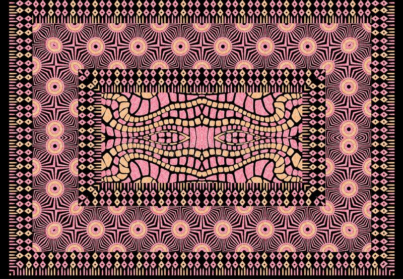 Предпосылка картины дизайна конспекта геометрическая традиционная стоковая фотография rf