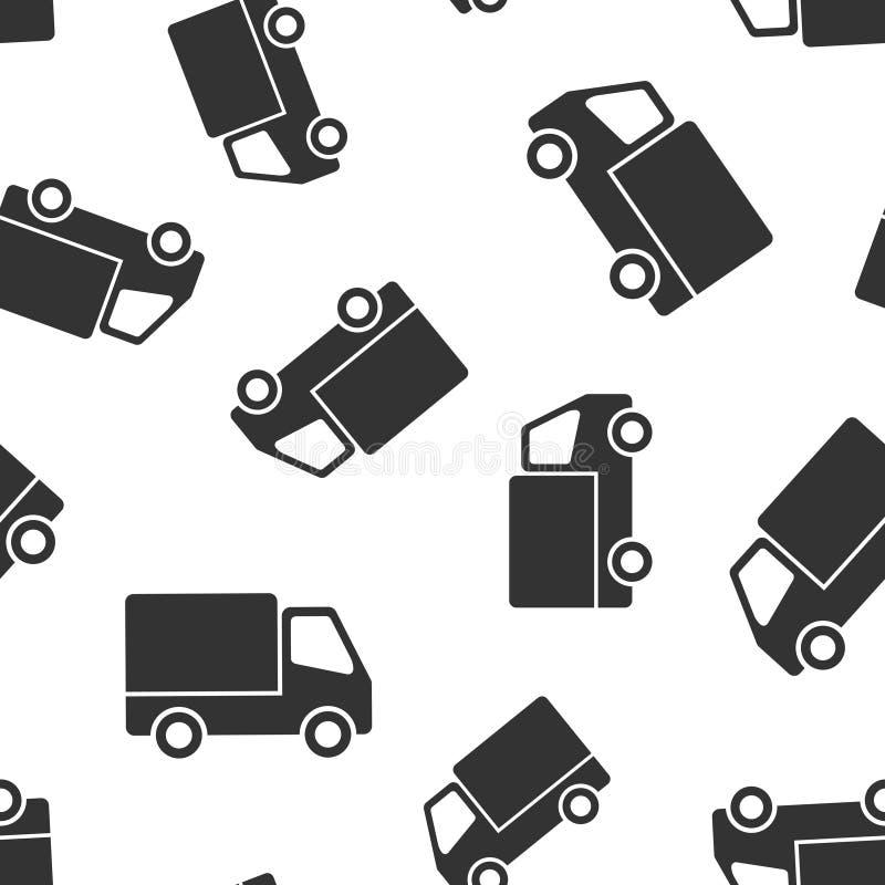 Предпосылка картины значка знака тележки доставки безшовная Иллюстрация Van вектора на белой изолированной предпосылке Дело автом бесплатная иллюстрация