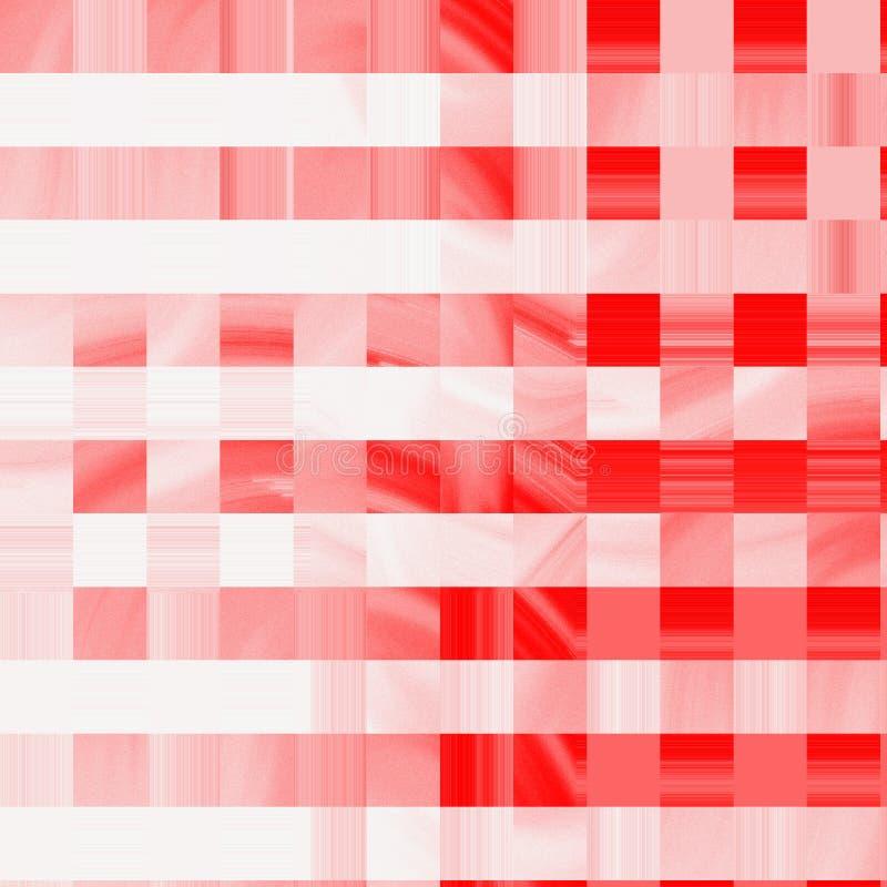 Предпосылка картины квадратов абстрактного красочного цвета коралла градиента геометрическая Творческий плоский коллаж с квадрата стоковые изображения rf