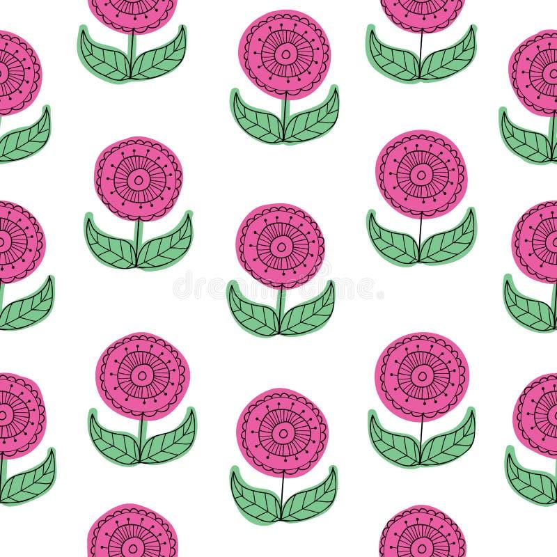 Предпосылка картины пинка вектора флористическая безшовная также вектор иллюстрации притяжки corel бесплатная иллюстрация