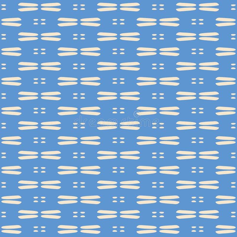 Предпосылка картины повторения вектора конспекта безшовная Синь сладкой руки вычерченная и сплетенная сливк предпосылка текстуры иллюстрация вектора