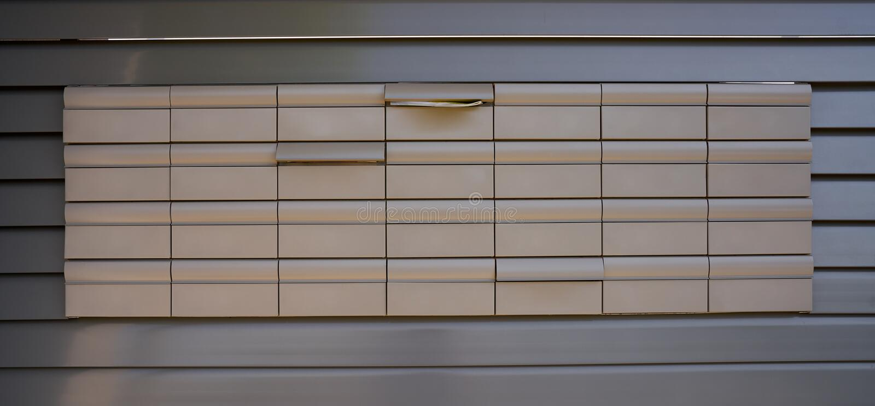 Предпосылка картины почтовых ящиков в сером цвете стоковое изображение