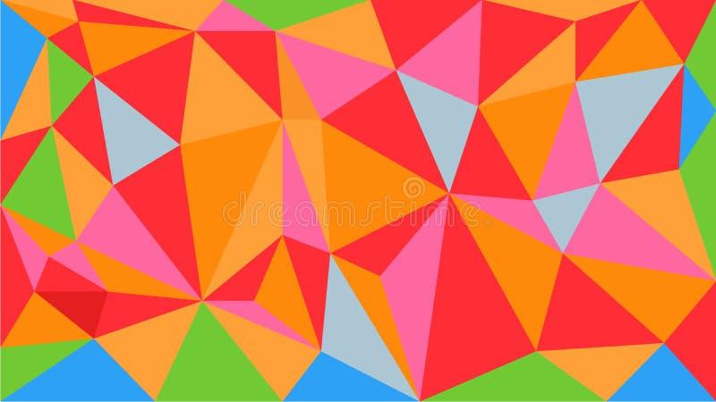 Предпосылка картины привлекательного яркого вектора полигональная геометрическая сделанная trianle формирует Элементы дизайна пол бесплатная иллюстрация