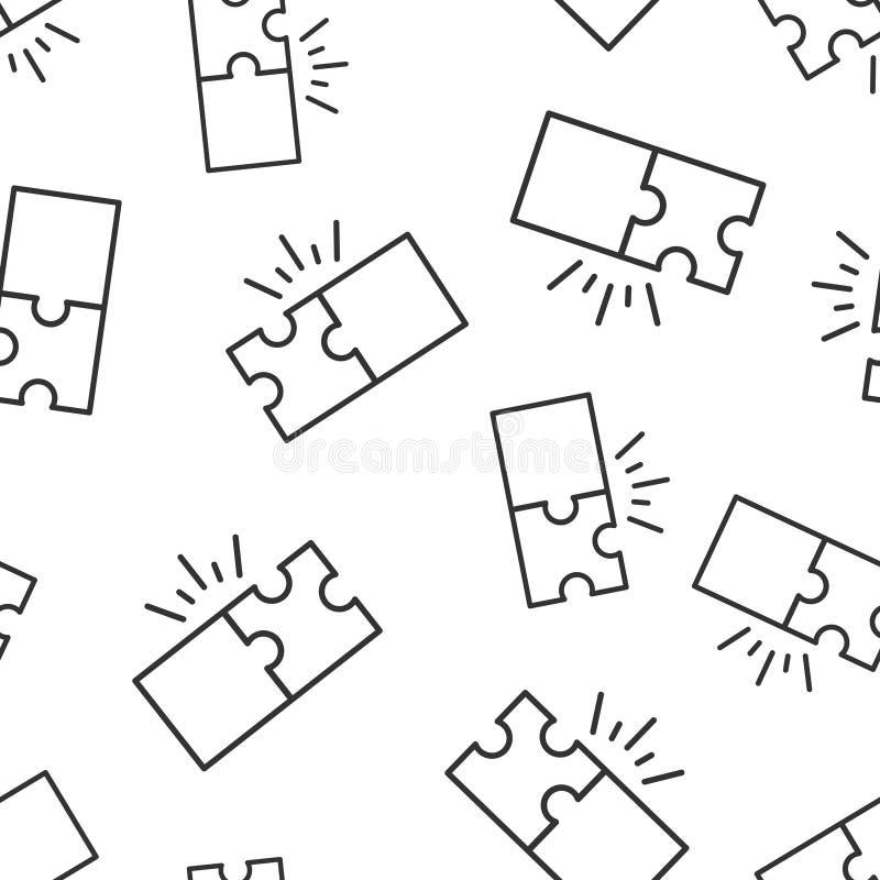 Предпосылка картины совместимого значка головоломки безшовная Иллюстрация вектора согласования зигзага на белой изолированной пре иллюстрация штока