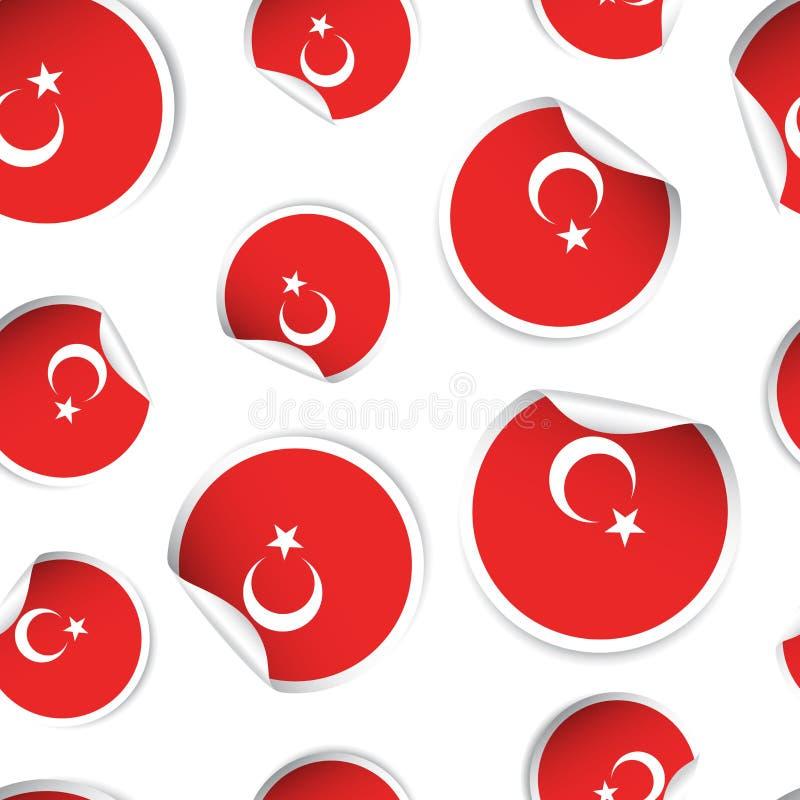Предпосылка картины стикера флага Турции безшовная Concep дела иллюстрация штока