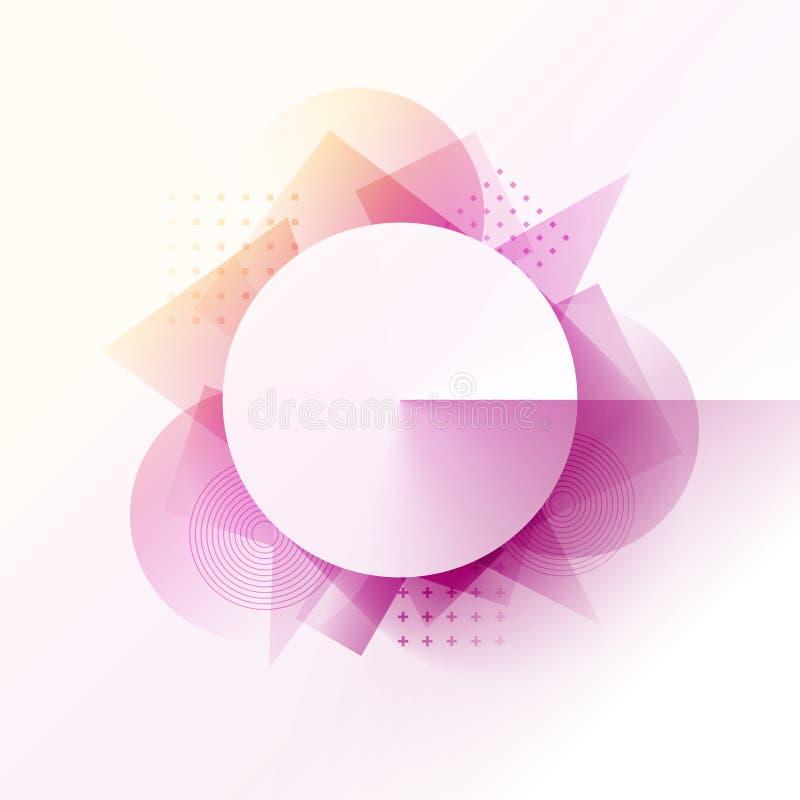 Предпосылка картины с кругом и геометрическими формами Центральный cir бесплатная иллюстрация