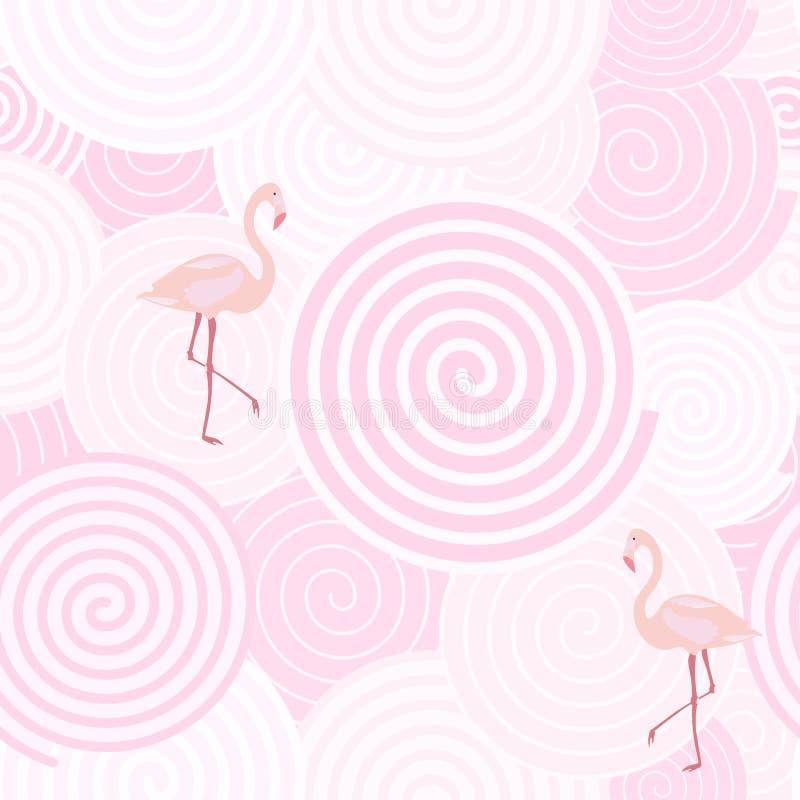 Предпосылка картины - фламинго иллюстрация вектора