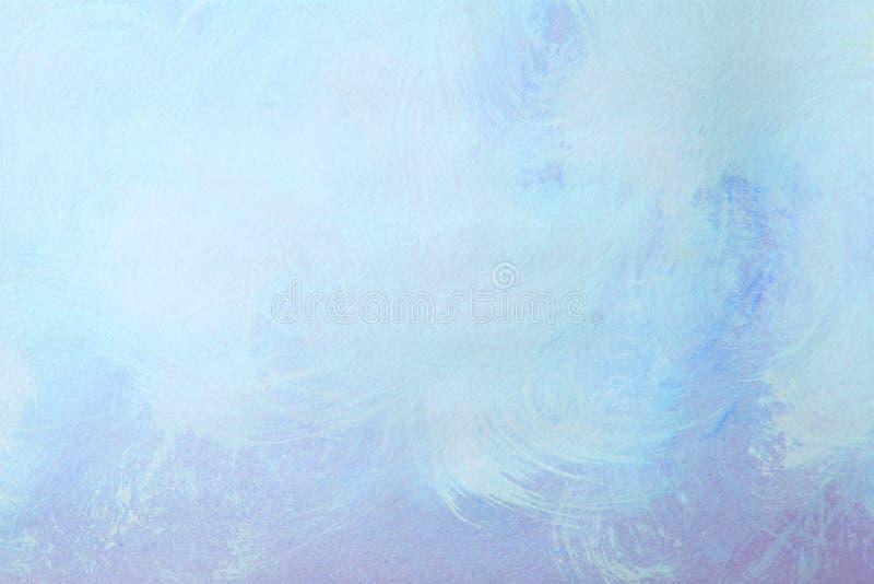 Предпосылка картины brushstroke абстрактного grunge голубая иллюстрация вектора
