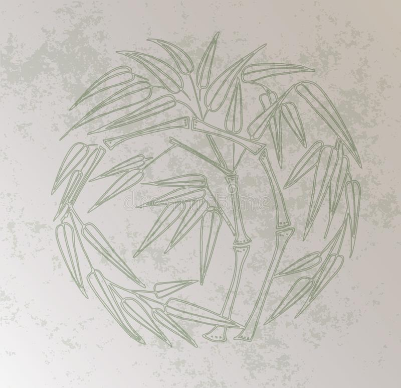 Предпосылка китайского ретро бамбука стиля крася бесплатная иллюстрация