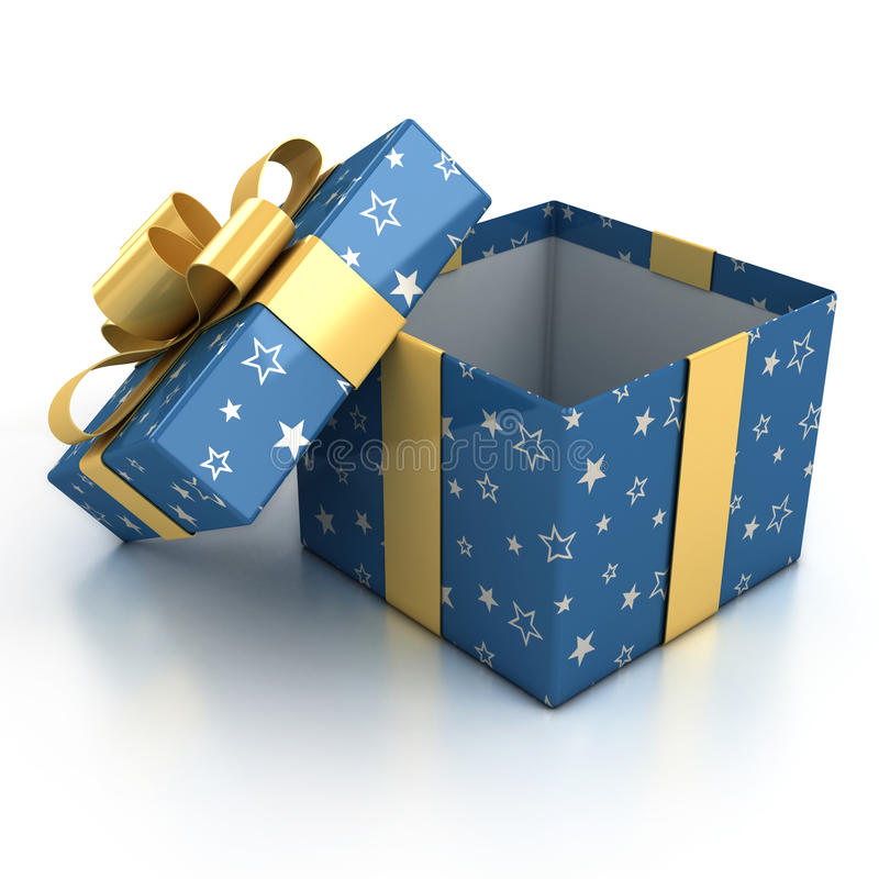 предпосылка кладет подарок в коробку над белизной бесплатная иллюстрация