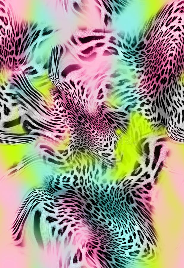 Предпосылка кожи леопарда безшовная стоковые фото