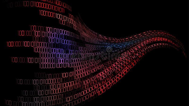 Предпосылка компьютера кода кибер цифровая бесплатная иллюстрация