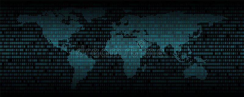 Предпосылка конспекта бинарного кода, код цифровой связи бесплатная иллюстрация