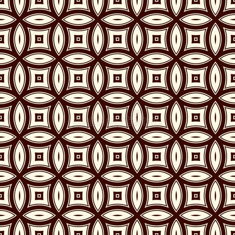Предпосылка конспекта Брайна с перекрывая кругами Мотив лепестков Безшовная картина с классическим геометрическим орнаментом иллюстрация штока