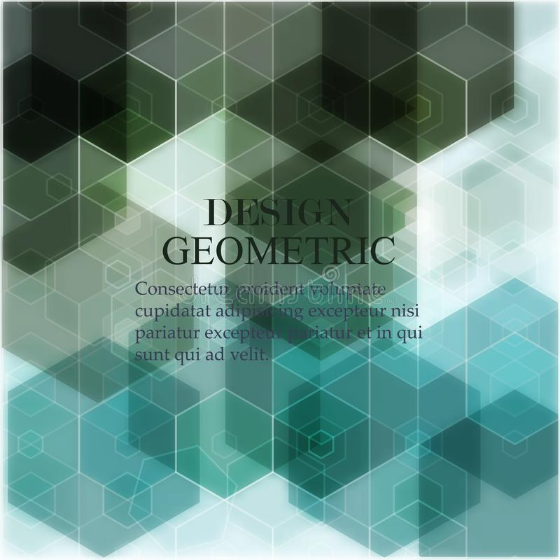 Предпосылка конспекта вектора геометрическая r Зеленая форма шестиугольника бесплатная иллюстрация