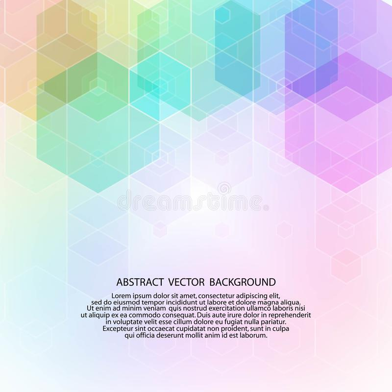Предпосылка конспекта вектора геометрическая r форма шестиугольника цвета 10 eps бесплатная иллюстрация
