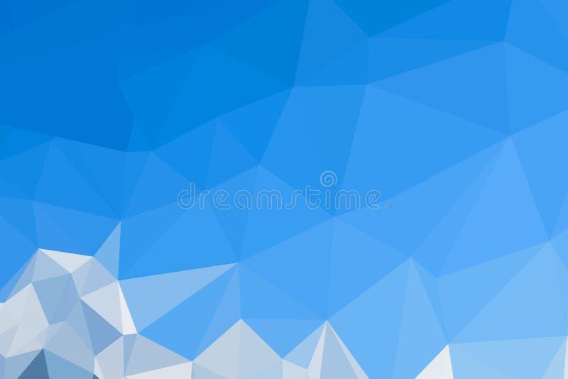 Предпосылка конспекта голубая полигональная иллюстрация вектора