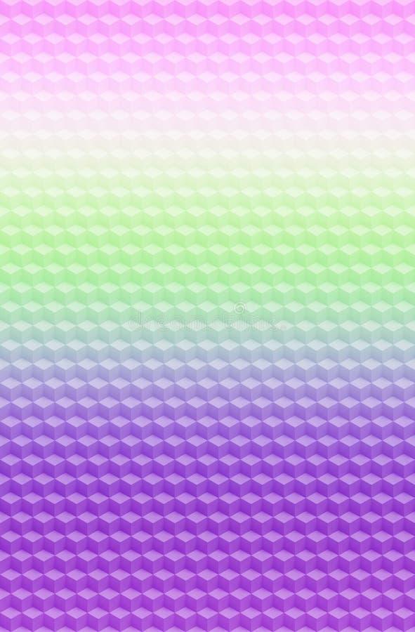 Предпосылка конспекта картины 3D куба пурпурная розовая геометрическая, текстура иллюстрация штока