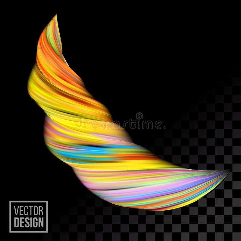 Предпосылка конспекта краски цвета оранжевого вектора цифровая Творческие яркие 3d пропускают жидкая волна краски иллюстрация вектора