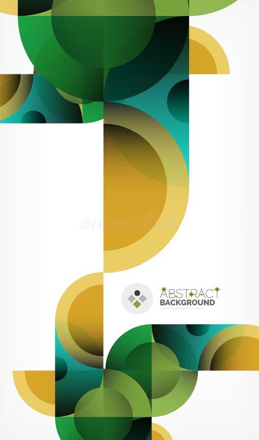 Предпосылка конспекта круга цвета геометрическая, современные формы с сообщением бесплатная иллюстрация