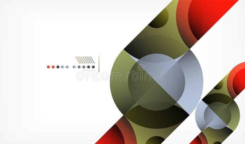 Предпосылка конспекта круга цвета геометрическая, современные формы с сообщением иллюстрация штока