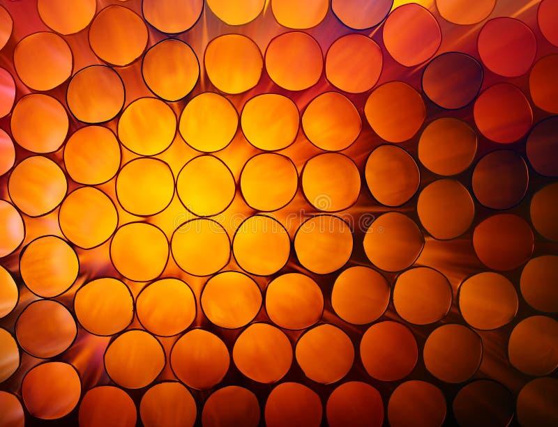 Предпосылка конспекта оранжевая красочная труб стога стоковые фото