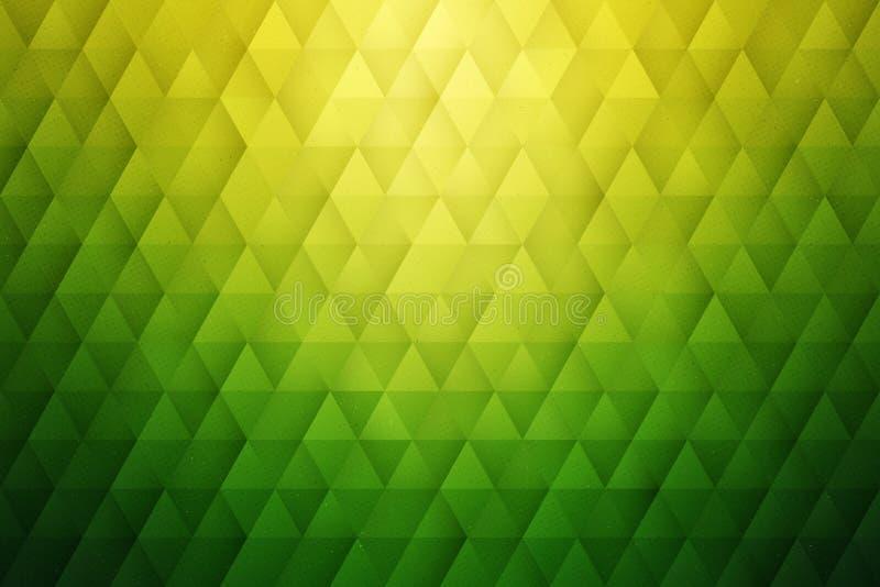 Предпосылка конспекта 3D геометрическая триангулярная зеленая иллюстрация вектора
