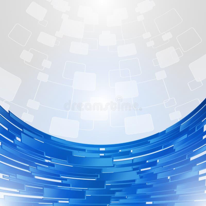 Предпосылка концепции абстрактной голубой технологии новая будущая иллюстрация вектора