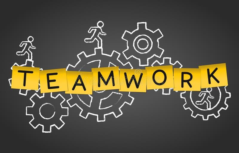 Предпосылка концепции группы рабочей силы сотрудничества команды сыгранности бесплатная иллюстрация