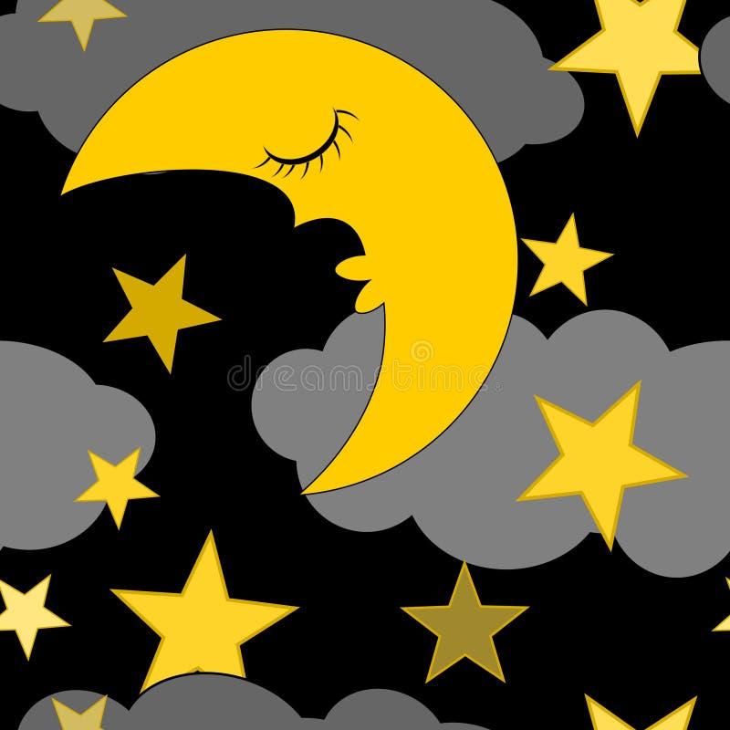 Предпосылка концепции иллюстраций ночного неба иллюстрация штока