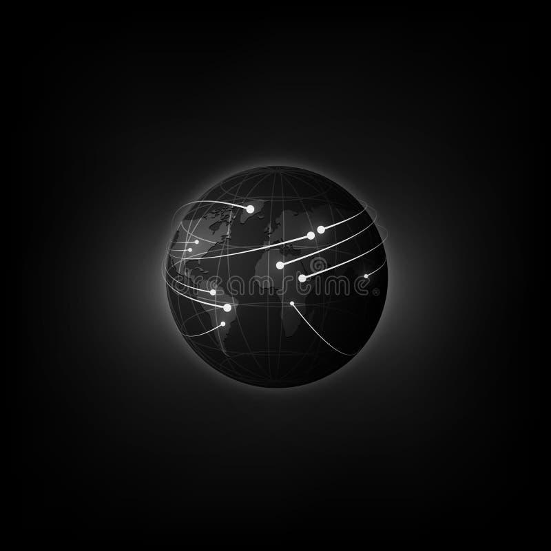 Предпосылка концепции нововведения технологии глобуса Sci fi футуристическая r иллюстрация вектора