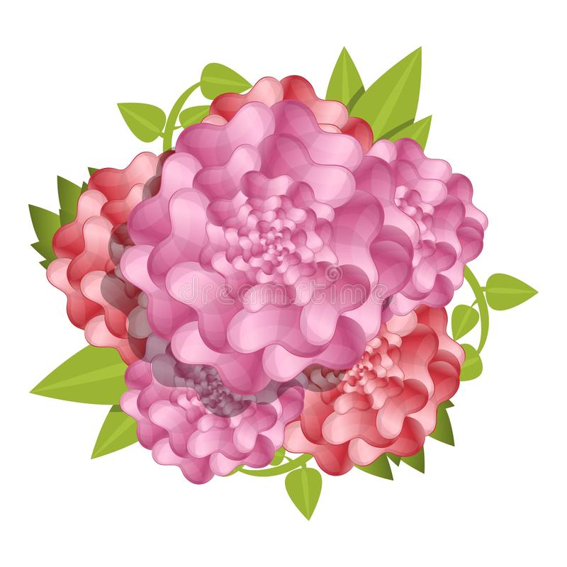 Предпосылка концепции свежего цветка камелии, стиль мультфильма иллюстрация штока