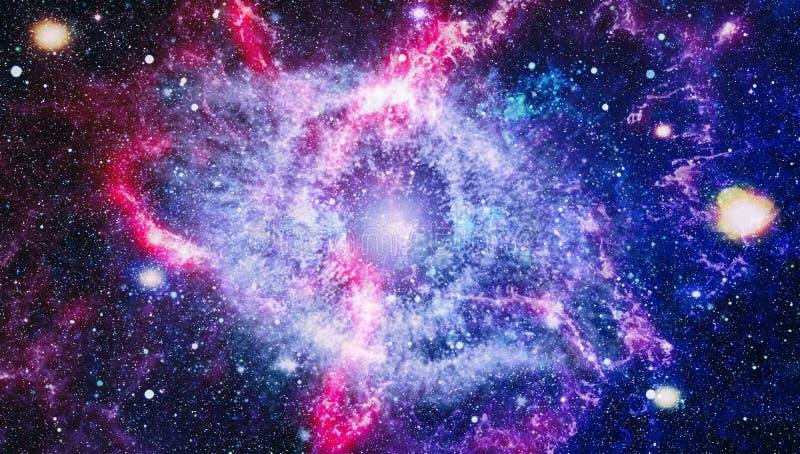 Предпосылка космоса абстракции для дизайна Мистический свет планеты, звезды и галактики в космическом пространстве показывая крас бесплатная иллюстрация