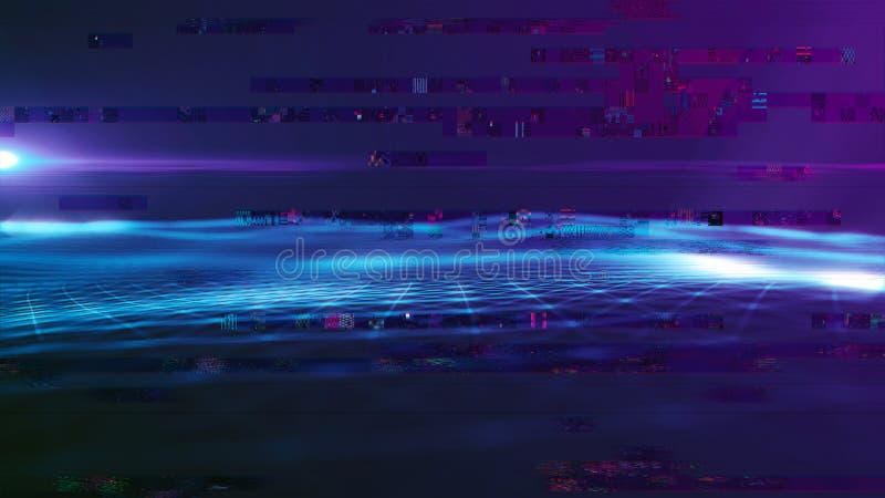 Предпосылка космоса конспекта предпосылки цифров полигональная с соединяясь линиями структурой соединения Предпосылка науки HUD стоковые фотографии rf